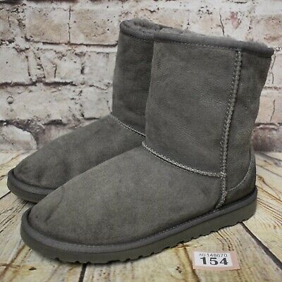 Junior UGG Australia Grey Classic Short II Boots UK 5 EUR 36 - Model 5825Y