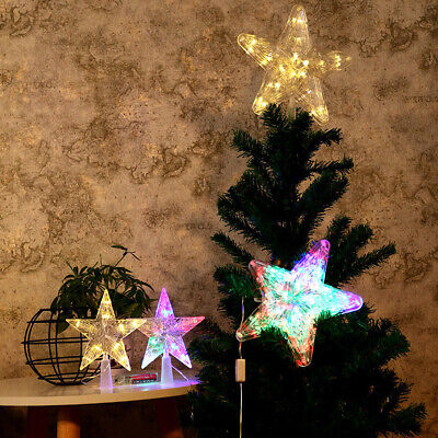 Christmas Tree Topper LED Lamp Christmas for Tree Xmas Battery Light Star Party