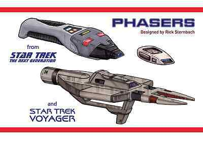 Star Trek TNG Voyager Phaser Development Book & Blueprints