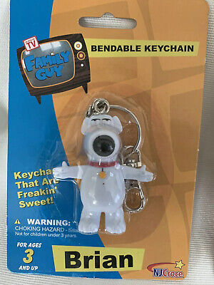 Family Guy BRIAN Bendable Keychain NEW Factory Sealed.