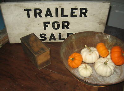 Terrific Old Wooden Sign Says Trailer For Rent Super Lettering Old Paint Aafa Nr