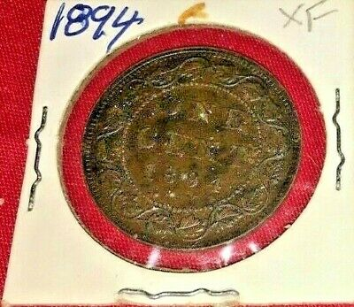 Large Canadian  1894   Penny.   XF    Condition