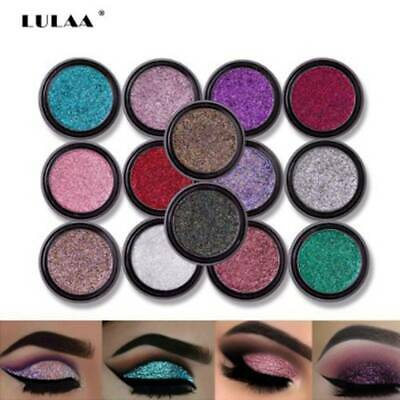Pro LULAA Glitter Powder Shimmering 8 Colors Eyeshadow Metallic Eye Cosmetic NEW