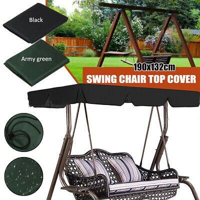 Replacement Canopy Swing Top Cover Patio Garden 2//3 Seater Hammock Cover wa