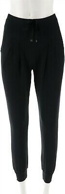 AnyBody Loungewear Light French Terry Jogger Pants Black XL NEW A306961