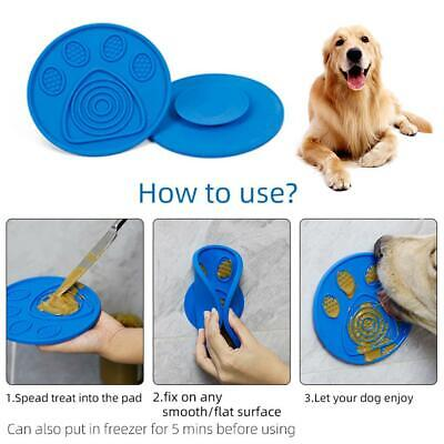 Dog Lick Pad Slow Feeder Transfer Plate Bath Buddy Suction Silicone Pet Supplie