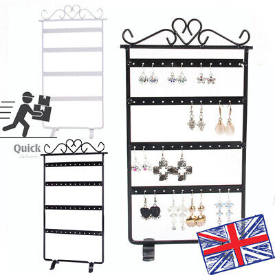 1PC Earring Hanging Display Rack 48 Holes Jewelry Organizer Metal Stand Holder