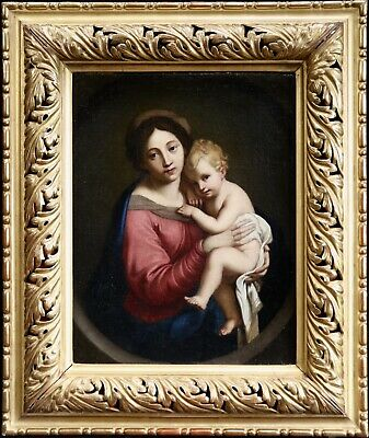 17th CENTURY FRENCH OLD MASTER OIL ON CANVAS - MADONNA & CHILD - PIERRE MIGNARD