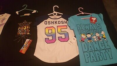 Girls Shirts Size Medium 8-10 Lot Of 4 Brand New With Tags