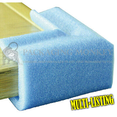 Strong Flexible Blue Foam Corner Edge Protectors For Edges *Full Range Of Sizes*