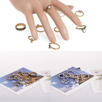 10pc//set Mid Midi Above Knuckle Joint Ring Band Tip Finger Stacking Punk Ring LI
