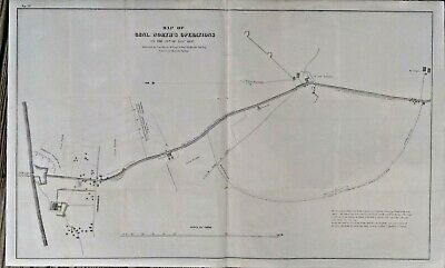 Genuine Rare Map Of General Worth's Operations On 8/20/1847 Mexican American War