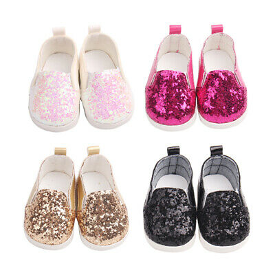 4Pairs 18 inch Accessory Doll Shoes Sparkle Sequined Shoe For American Girl Doll