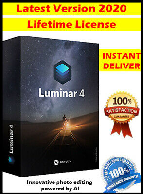Luminar v4 2020 for PC Win ✔️ Photo Editor✔️ Activation Lifetime License ✔