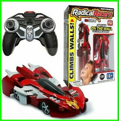Radical Racers Wall-Climbing Car Remote-Controlled with 360 As Seen On TV (Red)