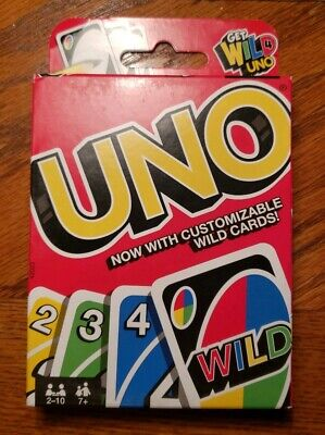 NEW 2015 Sealed Uno Card Game with Customizable Wild Cards Made in USA