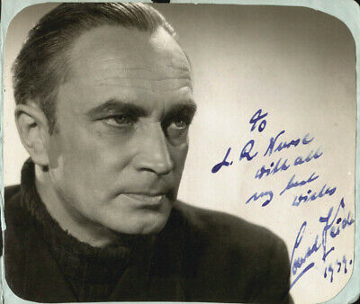 Conrad Veidt - Inscribed Photograph Signed 1939
