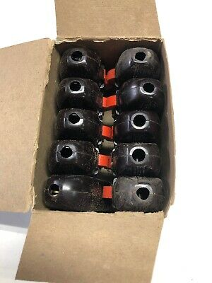 Vintage New Old Stock Eagle Inline Feed Through Switch Bacelite ,Box Of 10