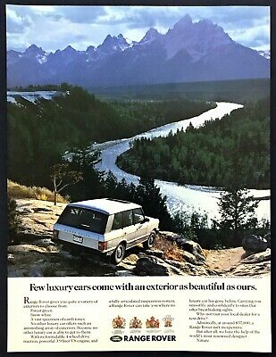 """1989 Land Rover Range Rover """"Astonishing Array of Exteriors"""" vintage print ad"""