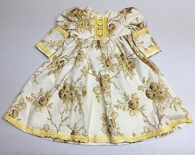 American Girl Doll Handmade Custom Yellow Floral Lace Sun Dress, Great For AG