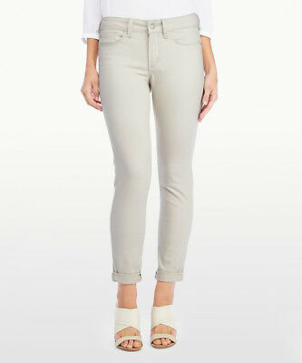 NYDJ Denim Clay Beige ALINA Convertible Stretch Skinny Slim LIFT TUCK Jeans 24W