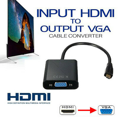 1080P HDMI Male to VGA Female Audio Video Adapter Converter Cable For PC DVD TV