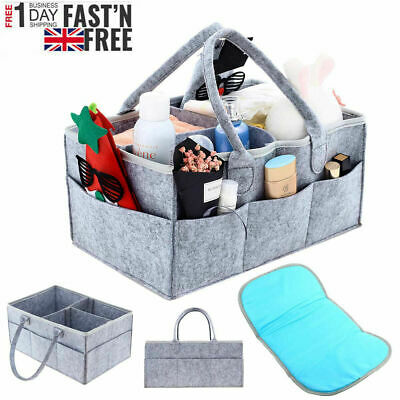 Baby Diaper Organizer Caddy Changing Nappy Kids Storage Carrier Bag Large Pocket