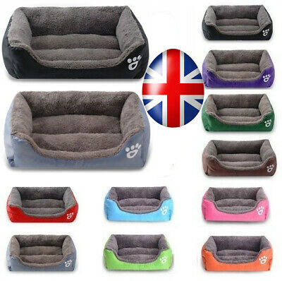 UK Pet Soft Warm Washable mat Cat Dog Bed Puppy Cushion House Kennel Mat Blanket