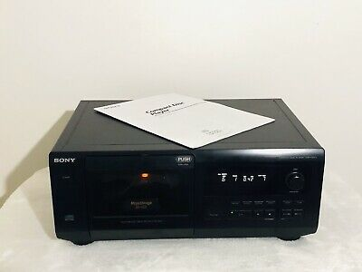 50 + 1 Mega CD Storage Compact Disc Player Sony CDP-CX571 with User Manual