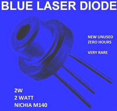 blue laser diode m140 2w - NEW unused -- 0 hours 450nm blue beam laser diode