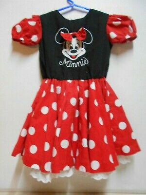 SIZE 5 Girl's ADORABLE Disney Wear Minnie Mouse Polka Dotted Character Dress