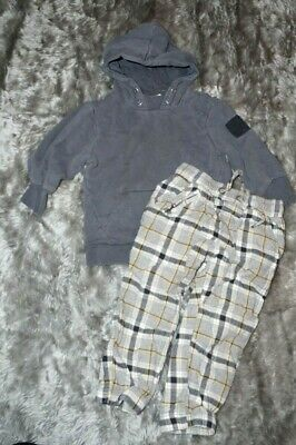 river Island boys grey next warm lined check trousers toddler 2-3 years