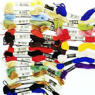 DMC Designs for the Needle Cotton Cross Stitch Thread Skein Mouline Lot of 27
