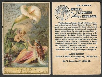 Old Advertising Trade Card - Dr. Price's Extracts - Fantasy Scene, Fairy