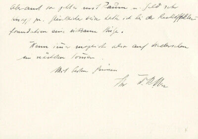 Walter Rudolf Hess - Autograph Letter Signed 1949