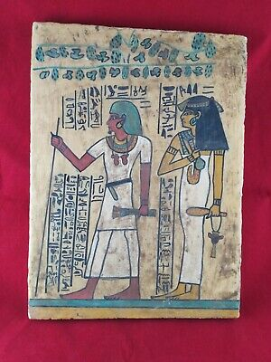 Ancient Egyptian Antiquities board of God Tutankhamen and Isis  (2686–2181BC)