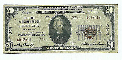 The First National Bank Of Jersey City, N.j. - 1929 $20 National Banknote Type 2