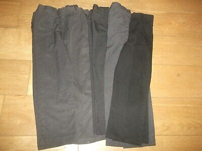 5 pairs of boys school trousers age 8/9  years