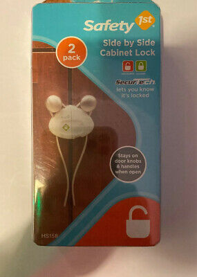 Safety 1st Side by Side Cabinet Lock #HS158 2 Pack - Baby Proof
