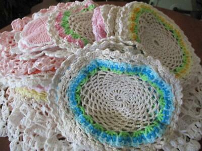 VINTAGE Bulk lot of X 54 Assorted Crocheted Doilies