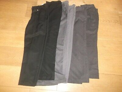 7 pairs of boys school trousers age 11 - 12   years some NEXT