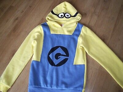 BNWT Official MINIONS Hoody 3-12y Winter Fleece Sweater//Costume Goggles//Jumper