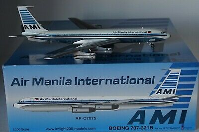 INFLIGHT 200 IF707AMI001P Boeing 707-321B AIR MANILA INT  RP-C7075 IN 1:200