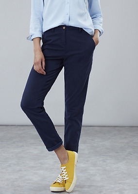Navy Blue Joules Hesford Chinos Stretch Cotton Slim Fit Trousers - 14 & BNWT
