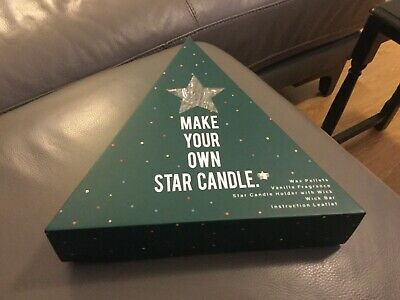 Marks & Spencer Make your own Star Candle Kit Set. BRAND NEW