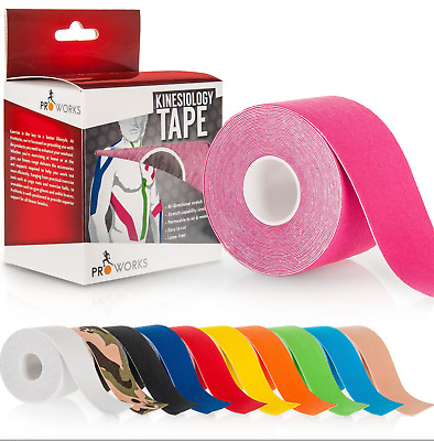 2 Rolls Pink Proworks 5m Kinesiology Tape   Sports Physio Knee Shoulder Support