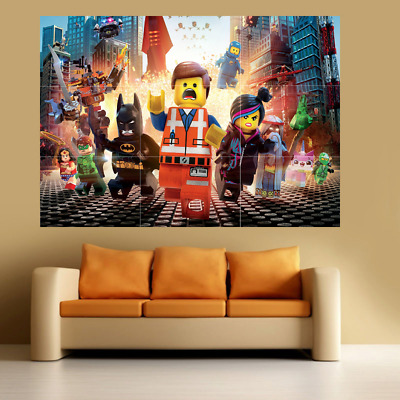 Lego Movie Large Poster Wall Art Print Deco Home - Sections A0 A1 A2 A3 A4