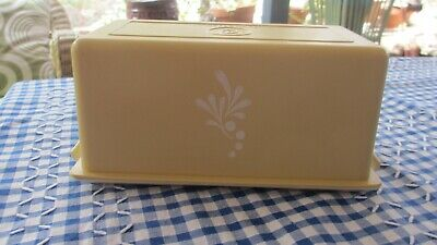 Vintage Tupperware butter Dish or tray & harvest gold cover