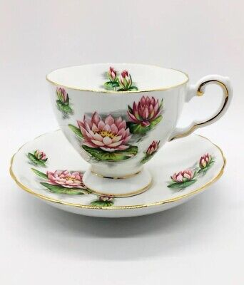 Tuscan Bone China Birthday Flowers July's Water Lily Cup & Saucer Set