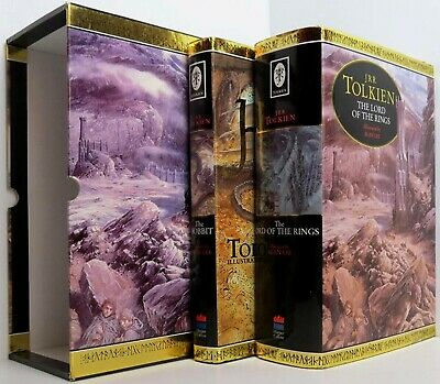 THE LORD OF THE RINGS & THE HOBBIT by J.R.R Tolkien 2 Vol Set illus by Alan Lee